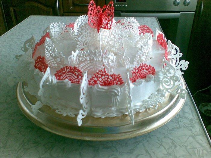 Как сделать украшения на торт из белкового крема