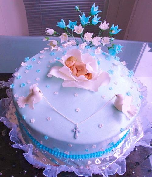 Тортик на крестины девочке